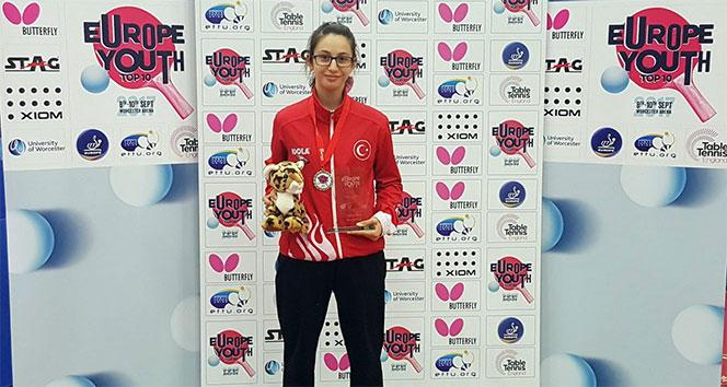 Özge Yılmaz masa tenisinde Avrupa ikincisi