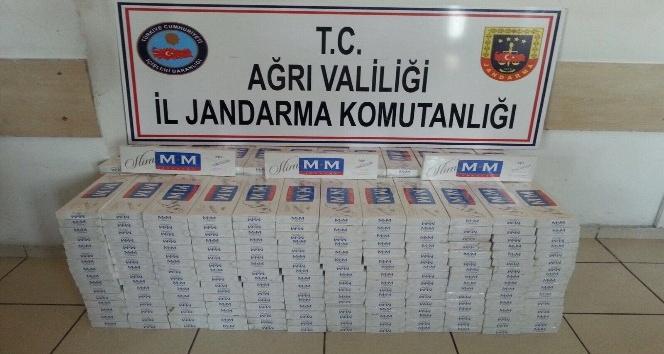 Doğubayazıt'ta bin 150 karton kaçak sigara yakalandı