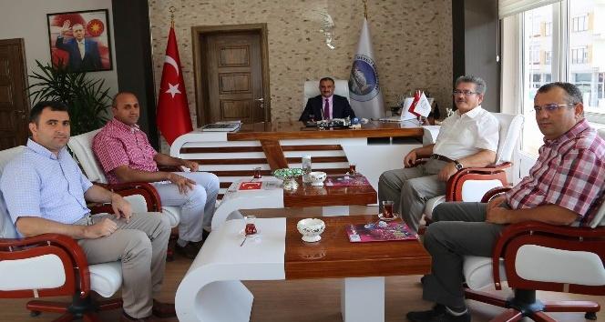 Hastane ve saray halı yönetiminden Başkan Cabbar'a ziyaret