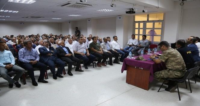 Cizre'de eğitim öğretim yılı öncesi güvenlik toplantısı yapıldı