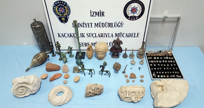 İzmir'de tarihi eser kaçakçılığı: 1 gözaltı