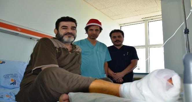 Iraklı hastanın ayağı, kök hücre ile kesilmekten kurtarıldı