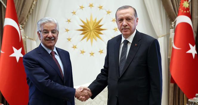 Cumhurbaşkanı Erdoğan, Pakistan Dışişleri Bakanını kabul etti