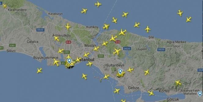 Uçaklar hem havada hem karada kuyruğa girdi