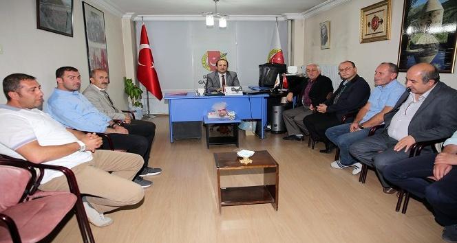Vali Pehlivan, Bayburt Gazeteciler Cemiyeti'ni ziyaret etti
