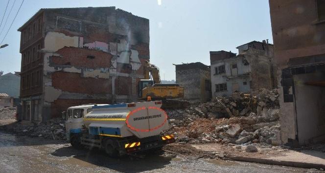 Pazarkapı'da 32 binanın yıkımına başlandı