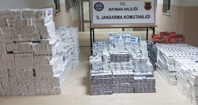 Batman'da 19 bin 360 paket kaçak sigara ele geçirildi