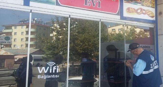 Bingöl'de kaldırımı işgal eden 6 kahvehane kapatıldı