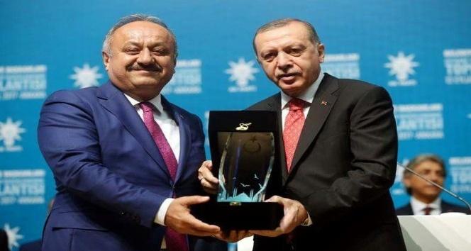Tahsin Babaş, Cumhurbaşkanı Erdoğan'dan ödülünü aldı