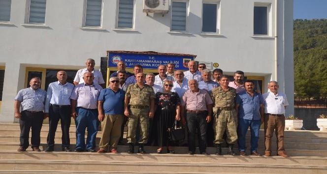 Muhtarlardan Albay Öz'e ziyaret