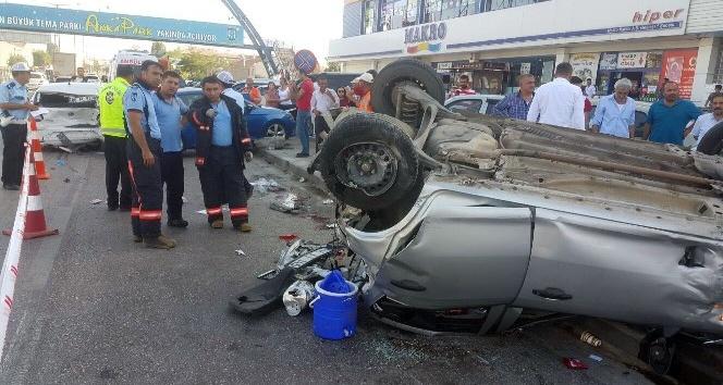 Başkent'te zincirleme kaza: 1'i ağır 5 yaralı