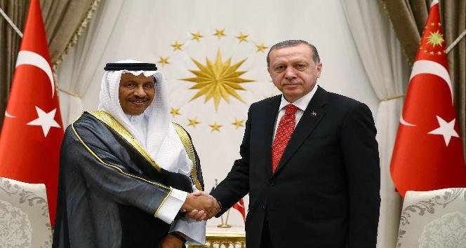 Cumhurbaşkanı Erdoğan, Kuveyt Başbakanı'nı kabul etti