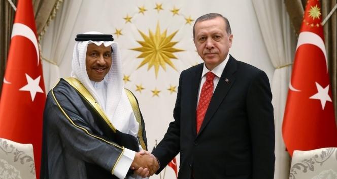 Cumhurbaşkanı Erdoğan, Kuveyt Başbakanını kabul etti