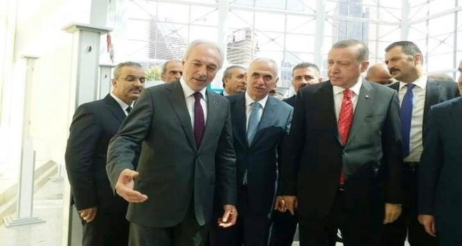 Başkan Kamil Saraçoğlu, Cumhurbaşkanı Erdoğan'a, Kadın İş Geliştirme Merkezi Projesi'ni tanıttı