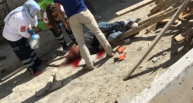 Suriyeli inşaat işçisi iskelesi olmayan inşaatın 7'inci katından beton zemine düştü