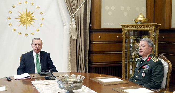 Cumhurbaşkanı Erdoğan, Genelkurmay Başkanını Akarı kabul etti