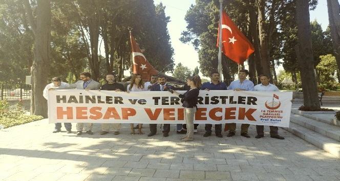 15 Temmuz gazileri CHP'li Sezgin Tanrıkulu'nu protesto etti