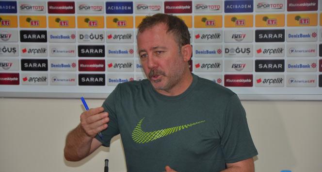 Sergen Yalçın: Biz buraya 3-5 maç çalışmaya gelmedik