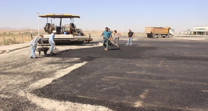 Ağrı Otogarında asfalt çalışması