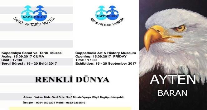 Ressam Ayten Baran Kapadokya Sanat ve Tarih Müzesinde