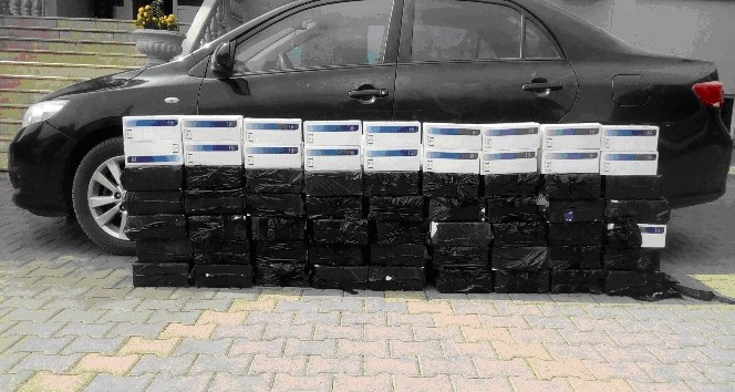 Kahramanmaraş'ta 5 bin paket kaçak sigara ele geçirildi