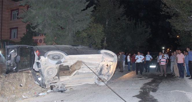 3 kişinin yaralandığı kaza sonrası eylem
