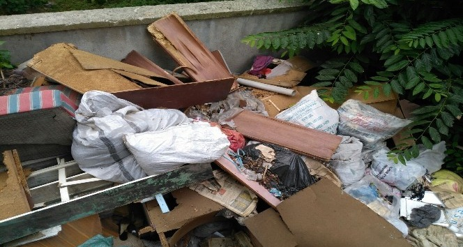 Çöp ev ekiplerce temizlenerek dezenfekte edildi