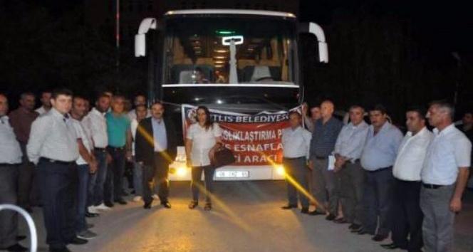 Bitlisli esnaflar Gaziantep'e gitti