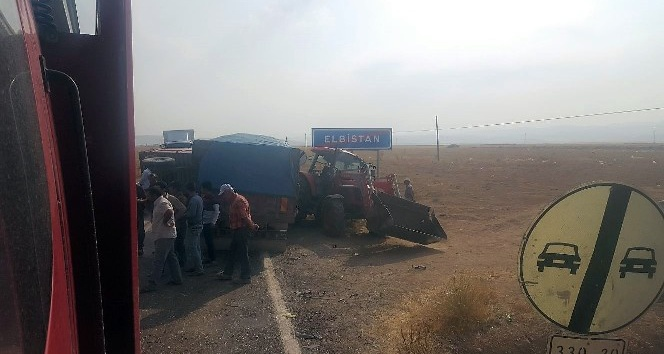 Traktör ile kamyon çarpıştı: 1 yaralı