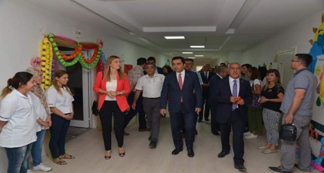 Federasyon Başkanı Halil Çil, özel bir anaokulunun binasını açtı
