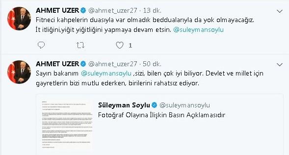 Milletvekili Uzer'den Bakan Soylu'ya destek