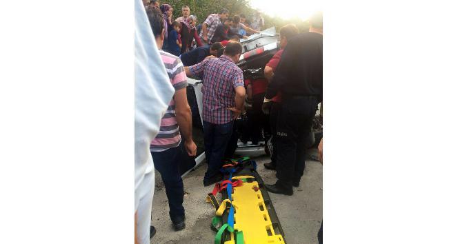 Alaplı'da trafik kazası; 1 yaralı