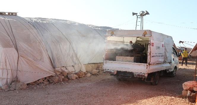 Suriye'deki kamplar dezenfekte edildi