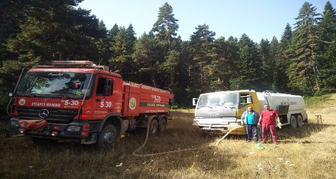 İnönü'den yangınla mücadeleye destek