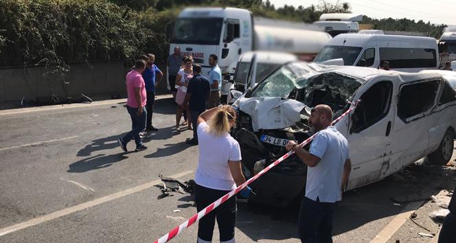 Tuzlada kontrolden çıkan araç takla attı: 1 ölü, 2 yaralı
