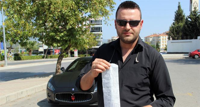 5000 CClik lüks araca yüksek egzoz sesi cezası