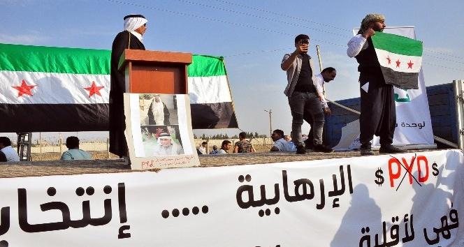 Suriyelilerden sıfır noktasında terör örgütü PYD'ye tepki