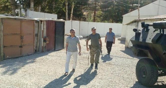 Kaymakam Özkan, karakol inşaatını inceledi