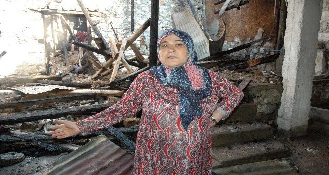 Savaştan kaçan Suriyeliler yangından son anda kurtuldu
