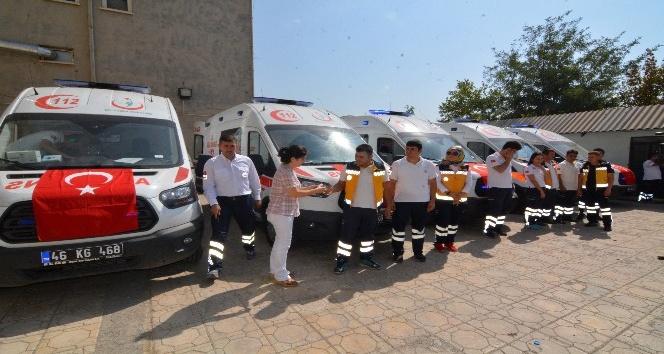 Kahramanmaraş'ta 5 ambulans göreve başladı