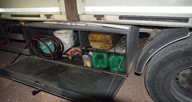Karaman'da iş makinelerinden mazot çalan şahıs tutuklandı