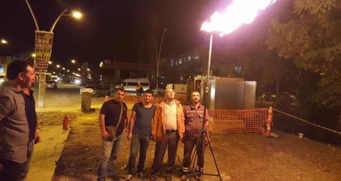 Ağrı'da doğalgazın ilk ateşi yakıldı