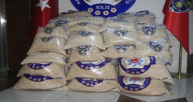 Suriye plakalı tırda 499 kilogram uyuşturucu madde ele geçirildi
