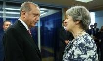Cumhurbaşkanı Erdoğan, İngiltere Başbakanı Theresa May ile görüştü