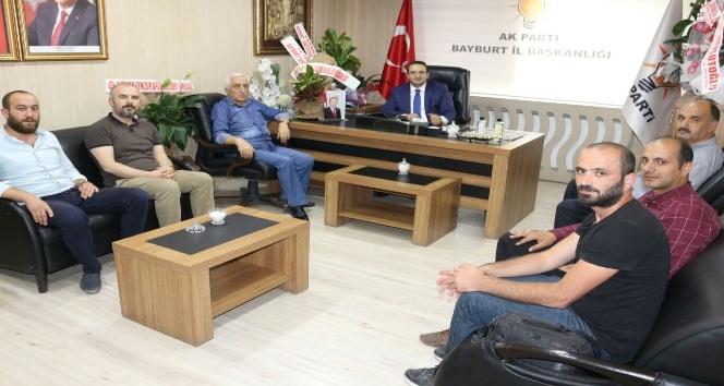 Gazeteciler Cemiyeti'nden Yumak'a hayırlı olsun ziyareti