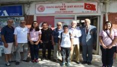 Ayvalıkta Mehmet Akif Ersoy Ortaokulu 8. Sınıf öğrencilerinden gazilere anlamlı ziyaret
