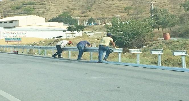Sungurlu-Kırıkkale karayoluna bariyerli önlem