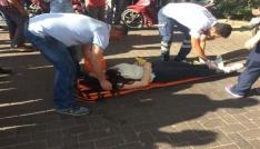 Motosikletiyle otomobile çarpan genç kız yaralandı