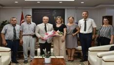 Şehitler Okulundan Başkan Kaydaya çiçekli teşekkür