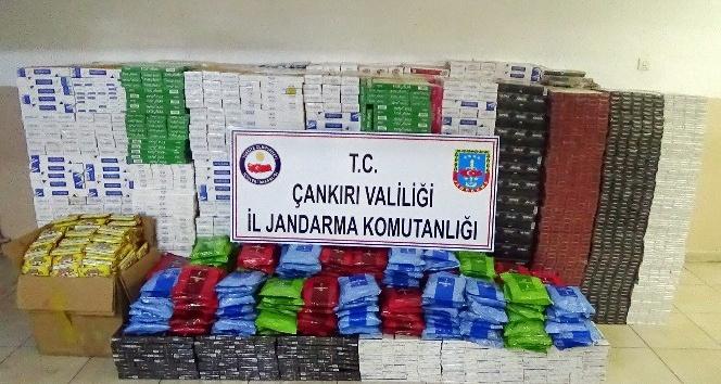 Çankırı'da 300 bin TL değerinde kaçak sigara ve tütün ele geçirildi
